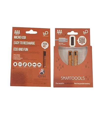 باتری شارژی نیم قلمی کیو وای اچ مدل 600 بسته دو عددی محصول بانو مد Products