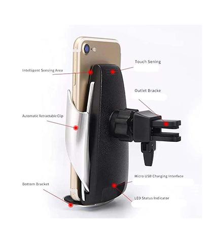 پایه نگهدارنده و شارژر بی سیم گوشی موبایل مدل S5 محصول بانو مد Products