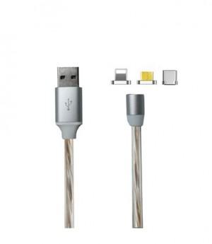 کابل تبدیل USB برای اندروید و آیفون کیو وای اچ مدل M-1200 بانو مد