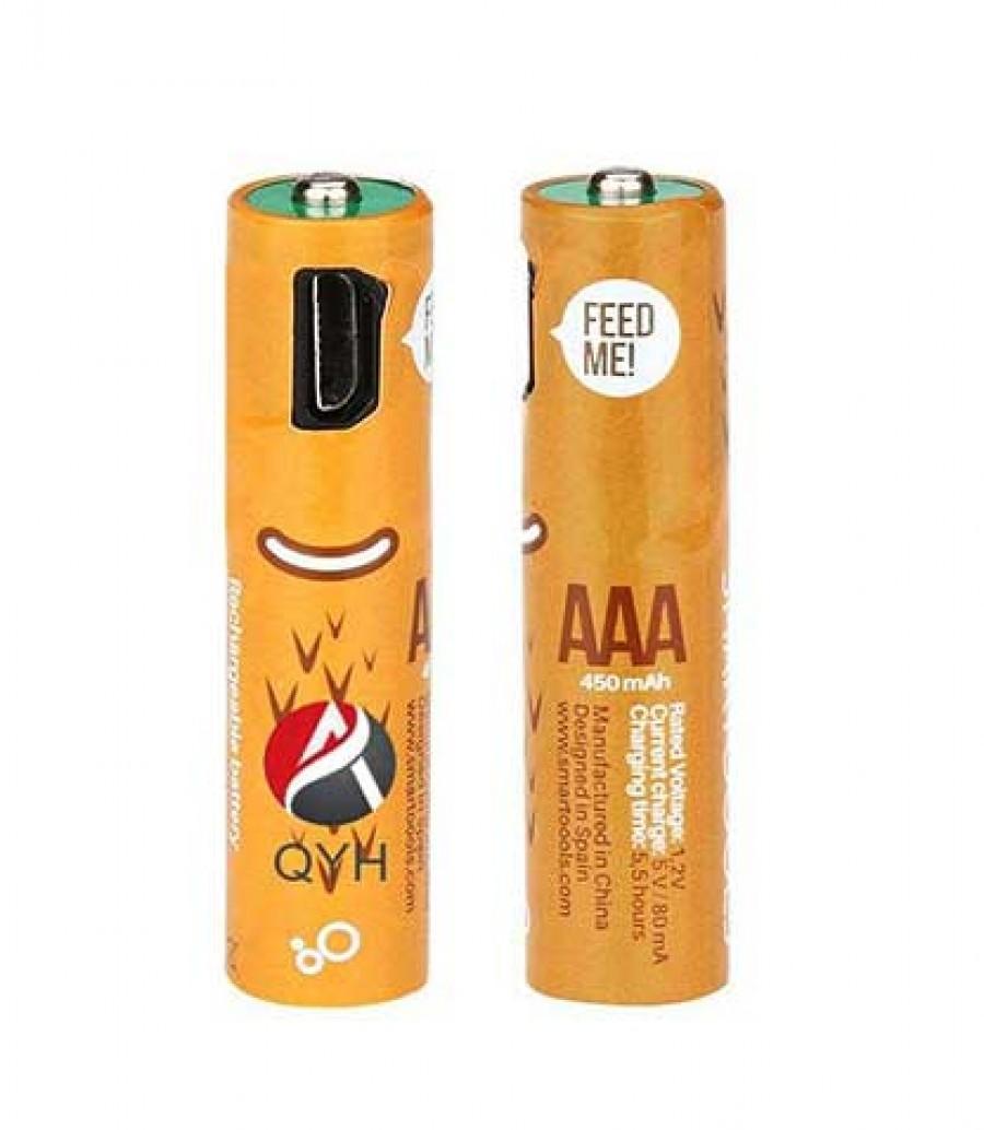قیمت و خرید باتری قابل شارژ نیم قلمی QYH مدل 600 بسته دو عددی باتری شارژی نیم قلمی,باتری نیم قلمی شارژی کیو وای اچ,باتری QYH بانو مد