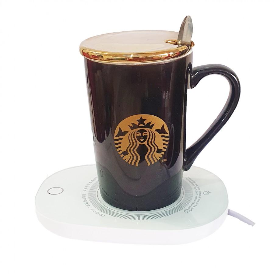 قیمت و خرید ماگ طرح استارباکس به همراه گرمکن برقی ماگ-ماگ دردار-ماگ به همراه گرمکن برقی- ماگ طرح استارباکس-ماگ استارباکس بانو مد